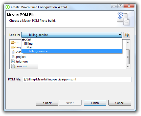 Maven Build Configuration Wizard
