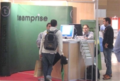 The Teamprise Booth during sessions.