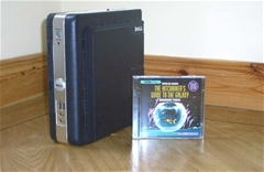 My pint sized Team Foundation Server Version Control Proxy compared to a CD case for scale