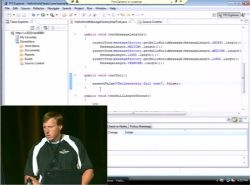 Brian Harry demonstrating TFS integration in Eclipse using Teamprise