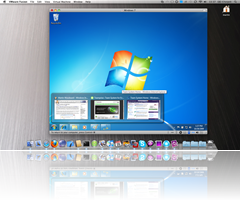 Windows 7 with Aero running in Mac OS X 10.6