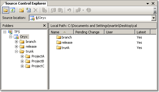 Folder Structure in Team Foundation Server Version Control
