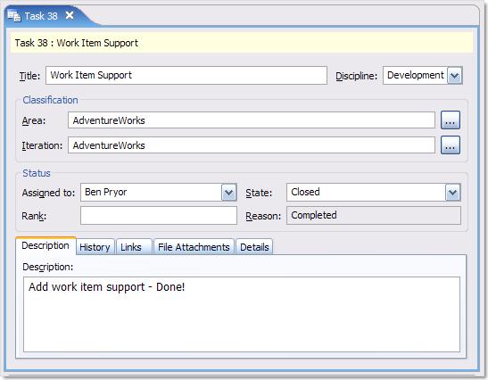 Edit TFS Work Items inside Eclipse
