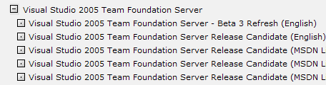Team Foundation Server Release Candidate on MSDN Subscriber Downloads site